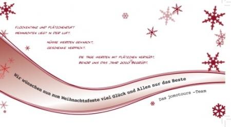 Merry Christmas wünscht jomotours!