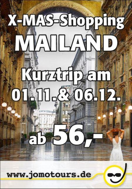 Busreise, Kurztrip nach Mailand